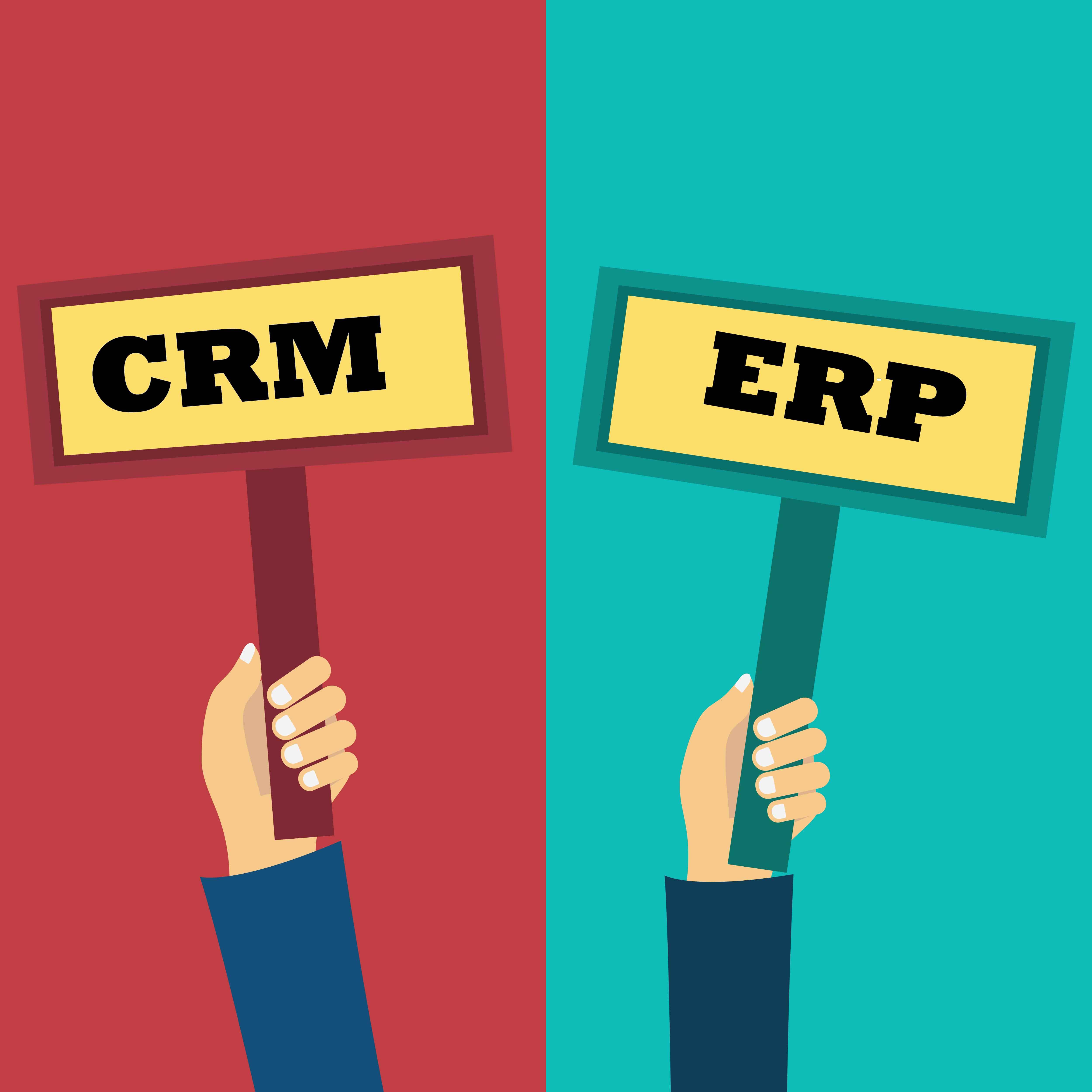 comparación CRM y ERP