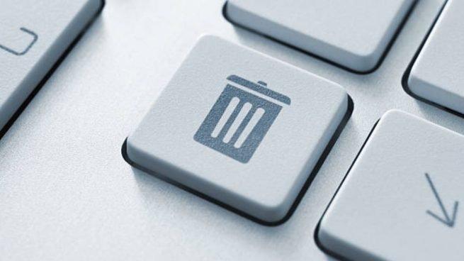 botón teclado papelera